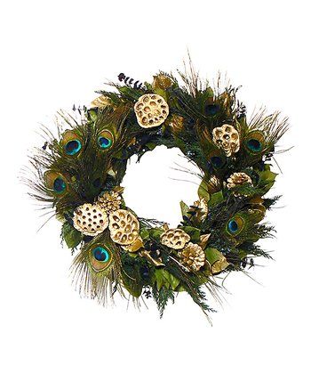 18'' Luxury Peacock Wreath