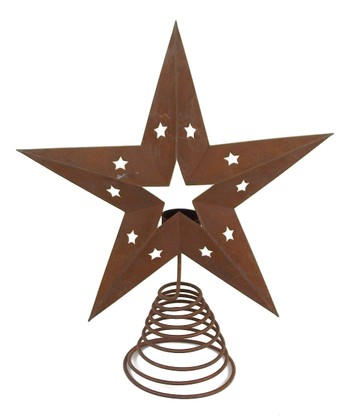 Rustic Star Tin Tree Topper