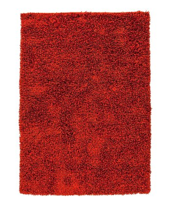 Rust Red Shag Rug