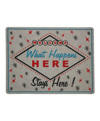 'What Happens Here Stays Here' Doormat