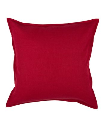 Red Flange Throw Pillow Cover & Insert
