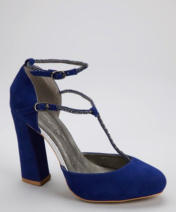 Blue Betty T-Strap Pump