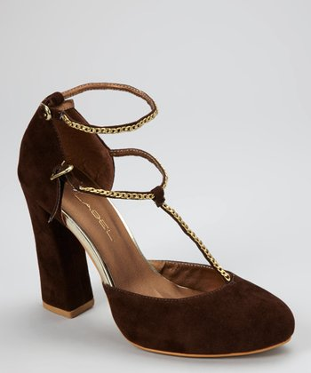 Brown Betty T-Strap Pump