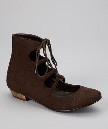 Brown Elaine Cutout Bootie