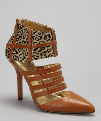 Tan & Gold Leopard Pump