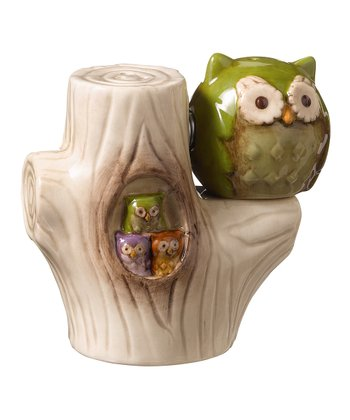 Green Owl Magnetic Salt & Pepper Shakers