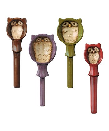 Owls & Holder Measuring Spoon Set