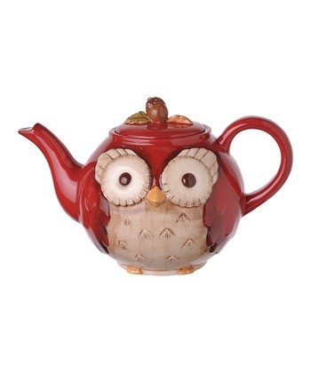 Red Owl Teapot