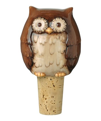 Brown Owl Bottle Stopper