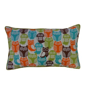 Green & Blue Owls Pillow