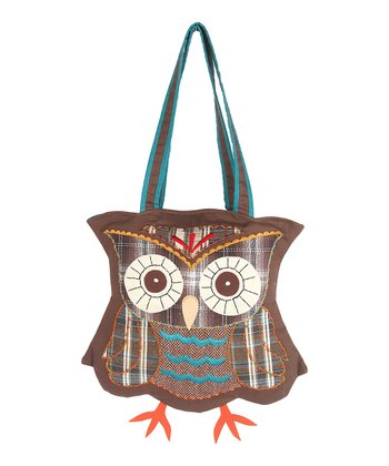 Brown Owl Wool Tote Bag