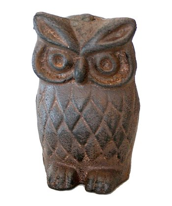 Rust Iron Owl Figurine