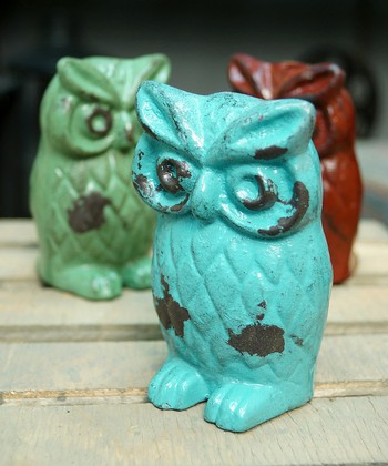 Blue Owl Figurine