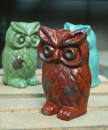 Red Owl Figurine