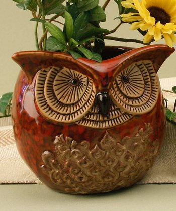 Owl Ceramic Planter
