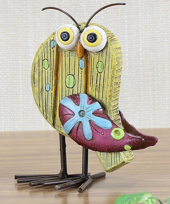 Yellow Owl Figurine