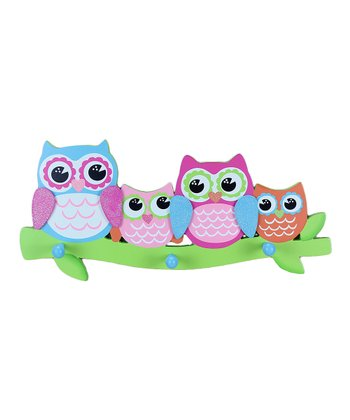 Blue & Green Owl Wall Hook