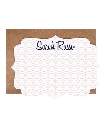 Wave Personalized  Card & Envelope Set
