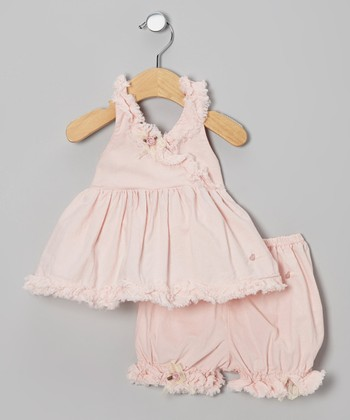Pink Ruffle Halter Top & Bloomers - Infant