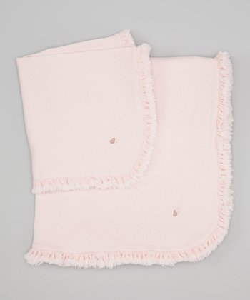 Pink Madeline Crib & Cuddle Blanket Set