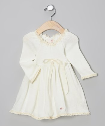 Buttercream Ribbon Sweater Dress - Infant