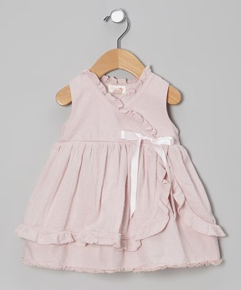 Lavender Surplice Apron Dress - Infant