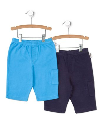 Navy & Turquoise Pocket Pants Set