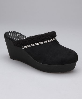Black Winter Clog