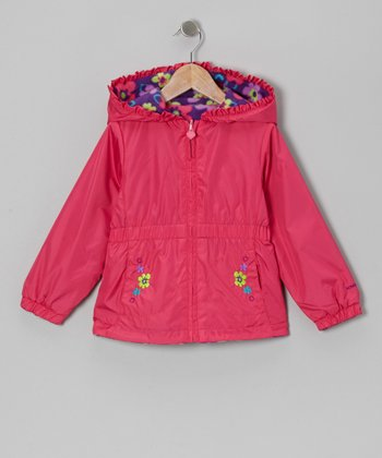 Fuchsia Floral Coat - Toddler