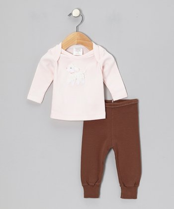 Pink Poodle Tee & Brown Pants - Infant