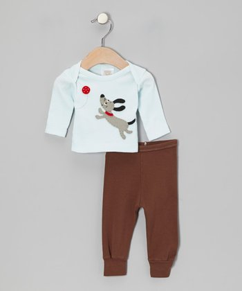 Aqua Dog Tee & Brown Pants - Infant