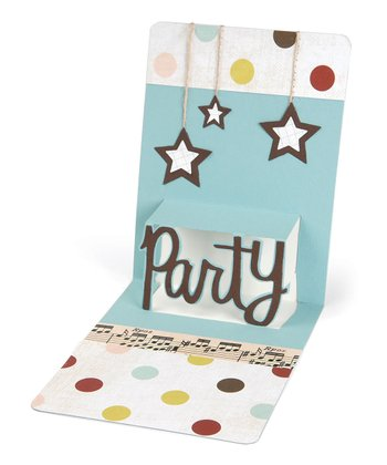Karen Burniston 'Party' Pop 'n' Cuts Magnetic Insert Die