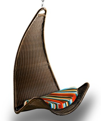 Stripes Pillow & Urban Balance Curve Chair