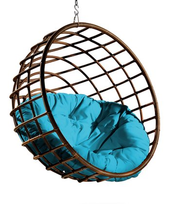 Blue Pillow & Urban Balance Sphere Chair