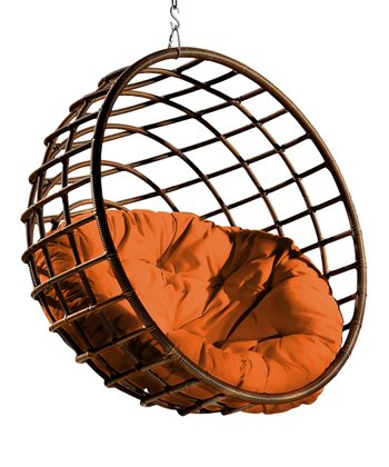 Tangerine Pillow & Urban Balance Sphere Chair