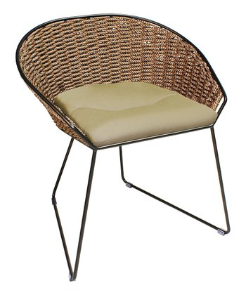 Beige Cushions & Weave Dining Chair