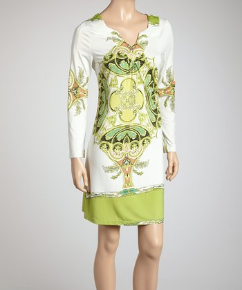 Green Lavish Baroque Dress