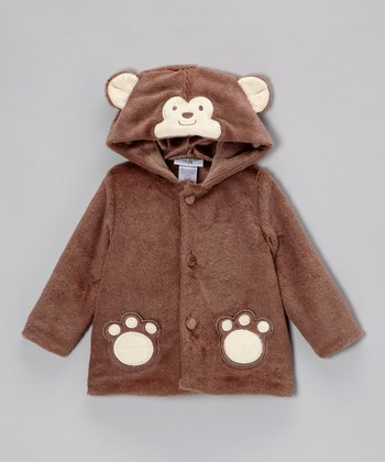Brown Monkey Hooded Jacket