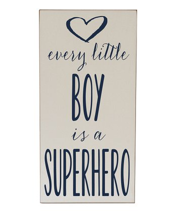 Cream & Navy Every Boy Superhero Wall Art