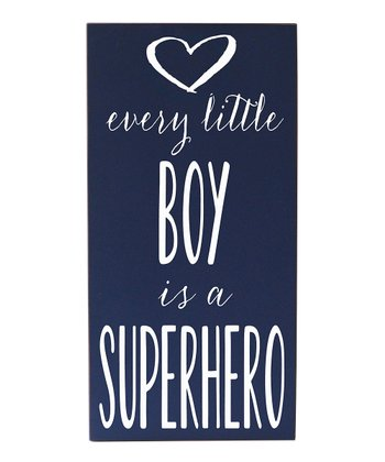 Navy & White Every Boy Superhero Wall Art