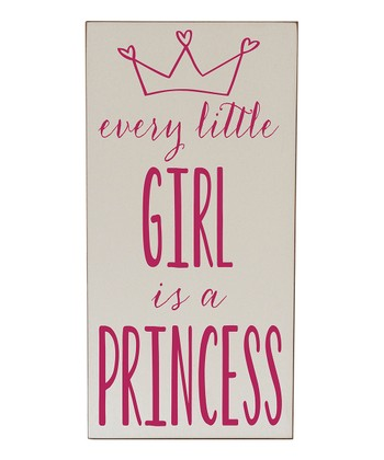 Cream & Pink Every Girl Princess Wall Art