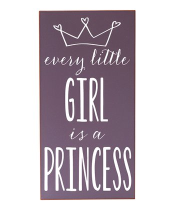 Purple & White Every Girl Princess Wall Art