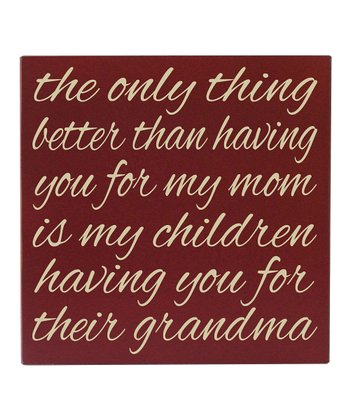 Red & Cream Grandma Like You Wall Art