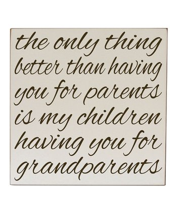 Cream & Brown Grandparents Like You Wall Art