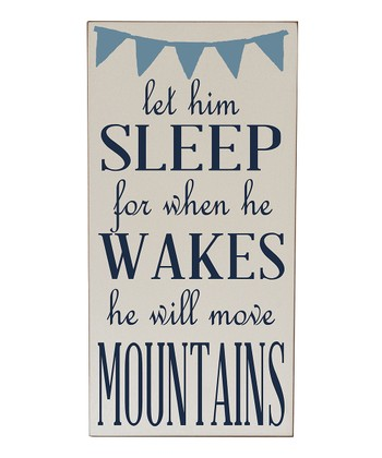 Cream & Navy Let Him Sleep Wall Art