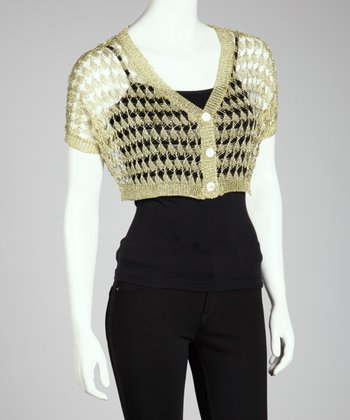 Gold Mesh Crocheted Bolero