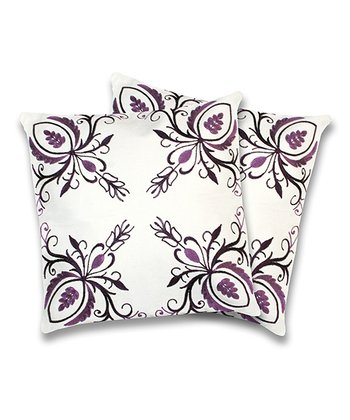 Purple Georgette Throw Pillow - Set of Two