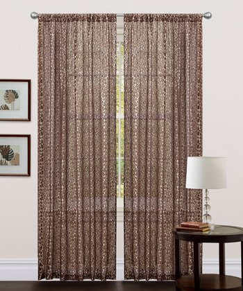 Leopard Window Curtain