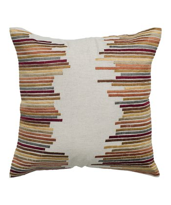 Beige Sound Wave Pillow