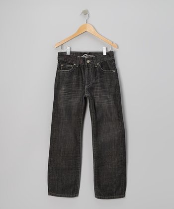 Medium-Wash Black Durer Jeans - Boys